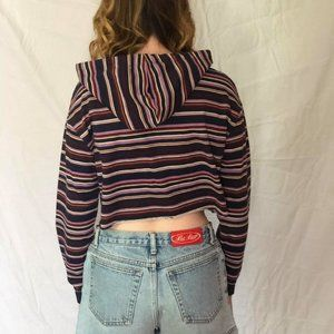 Wild Fable striped crop hoodie | size XS